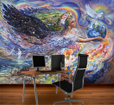 Earth angel mural josephine wall murals your way for Earthrise mural